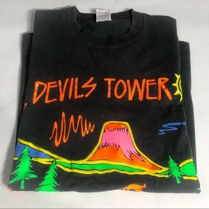 Neon Vintage Single Stitch Devil's Tower T-Shirt